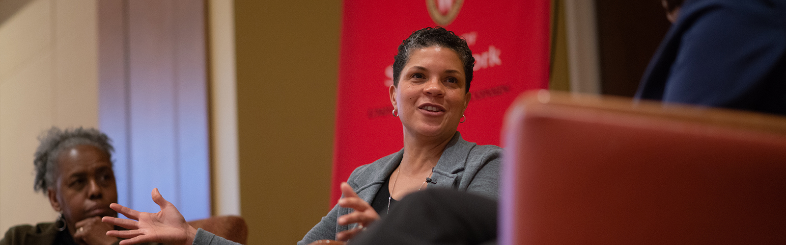 Michelle Alexander seated at 2019 conferece